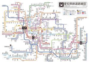 愛知県路線図